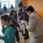 Szkoła Lokomotywa - wręczenie karty rowerowej