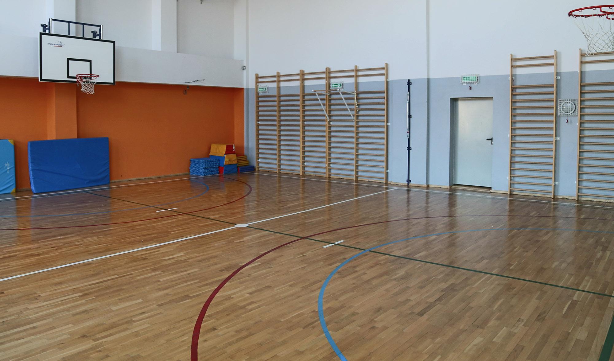Duża sala gimnastyczna w Lokomotywie